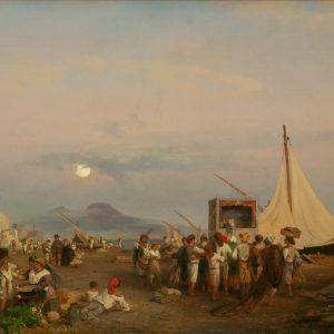 Achenbach, Oswald: Kasperletheater am Golf von Neapel