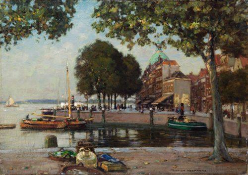 Hermanns, Heinrich: Damrak. Amsterdam