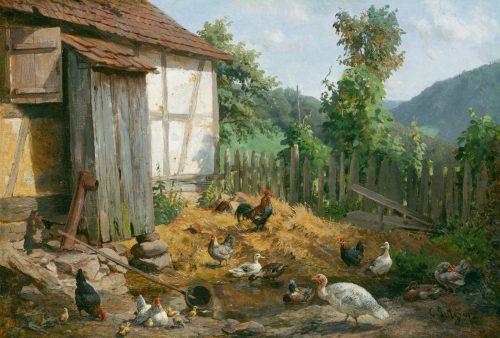 Carl Jutz: Landleben, 1891