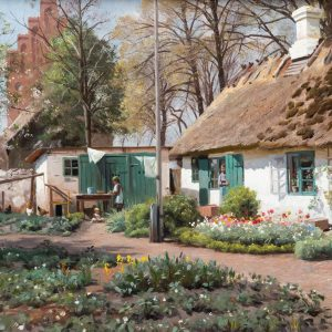 Mönsted, Peder: Flower Garden, 1917