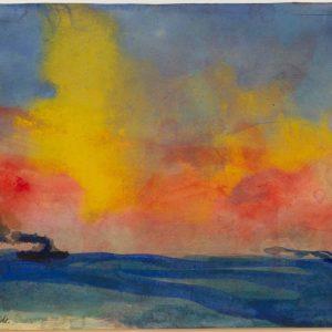 Nolde, Emil: Rote Abendsonne, 1946
