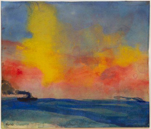 Nolde, Emil: Red evening sun, 1946