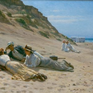 Schiøttz-Jensen, Niels Frederik: Summer life on the beach, 1909-10