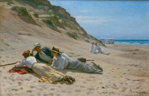 Schiøttz-Jensen, Niels Frederik: Sommerleben am Strand, 1909-10