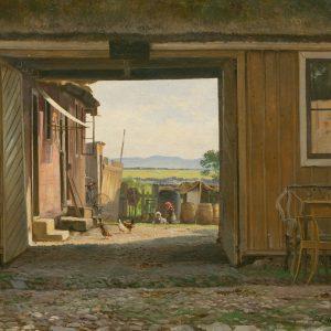 Carl Frederik Aagaard: Die Hofeinfahrt, 1891