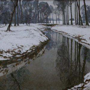 Max Clarenbach: Winter an der Erft