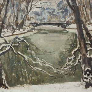 Max Clarenbach: Der Düsseldorfer Hofgarten im Winter