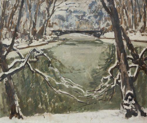Clarenbach, Max: Der Düsseldorfer Hofgarten im Winter