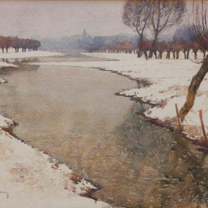 Max Clarenbach: Schnee am Niederrhein