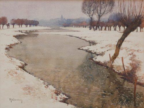 Clarenbach, Max: Schnee am Niederrhein