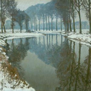 Max Clarenbach: Snowy Lower Rhine Landscape