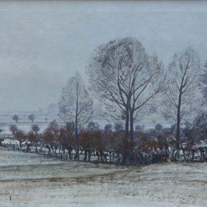 Max Clarenbach: Winterlandschaft (Rheinuferwiesen bei Wittlaer)