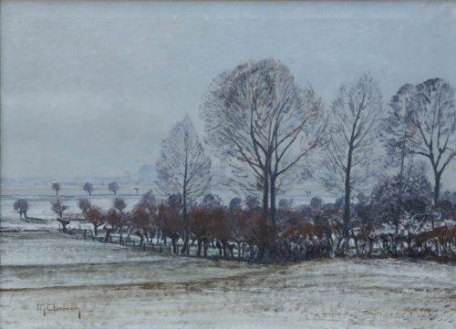 Clarenbach, Max: Winterlandschaft (Rheinuferwiesen bei Wittlaer)