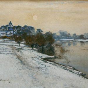 Max Clarenbach: Wintersonne am Niederrhein