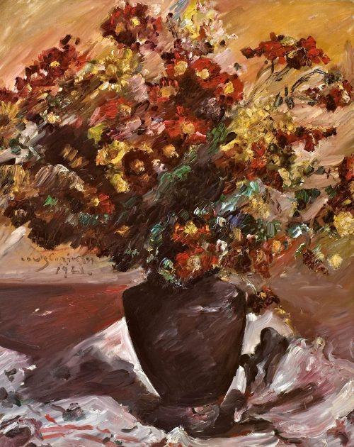 Corinth, Lovis: Gelbe und rote Astern, 1921