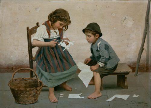 "Torre, Giulio del: Torre, Giulio del: ""Spielende Kinder"", 1907"