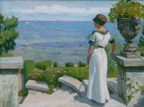 Fischer, Paul: Auf der Terrasse, 1912