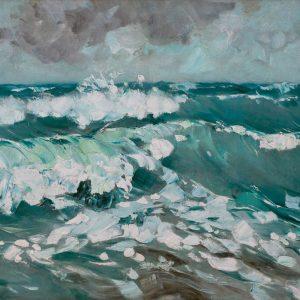 Karl Hagemeister: Bewegte See mit gischtenden Wellenkämmen, um 1912