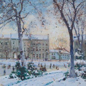 Hermanns, Heinrich: Winter im Düsseldorfer Hofgarten
