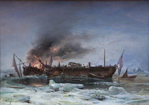 Hilgers, Carl: Die Expedition des Sir John Franklin im arktischen Eis, 1850
