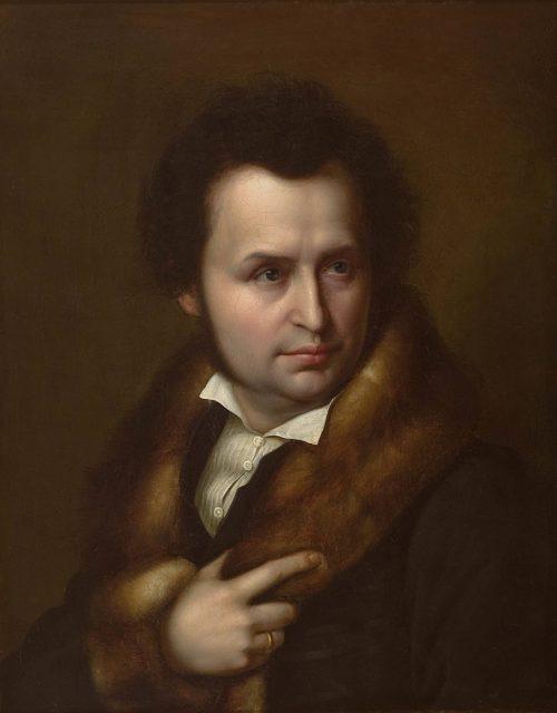 Julius Hübner: Bildnis Wilhelm von Schadow, um 1830