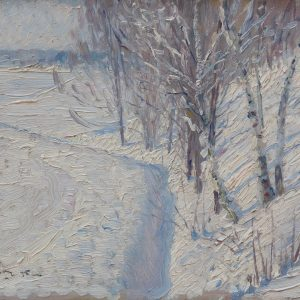 Johansson, Carl August: Winterlandschaft, 1895