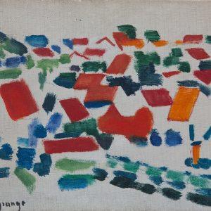 Lagrange, Jacques: Rote Dächer, 1953