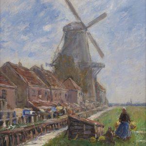 Liesegang, Helmuth: Landschaft mit Windmühle