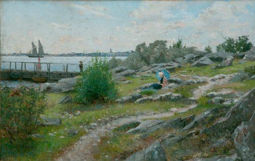 Lindman, Axel: Sommerlicher Nachmittag an der Küste