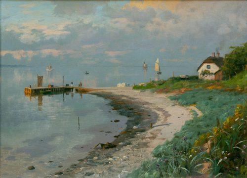 Mönsted, Peder: Wolken über der Küste von Strib auf Fünen, 1915