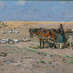 Hugo Mühlig: Pferdegespann in Hessen