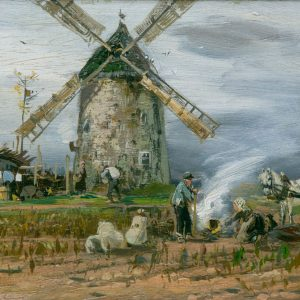 Mühlig, Hugo: In front of the windmill, 1884