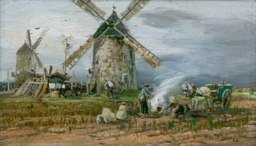 Hugo Mühlig: Vor der Windmühle, 1884