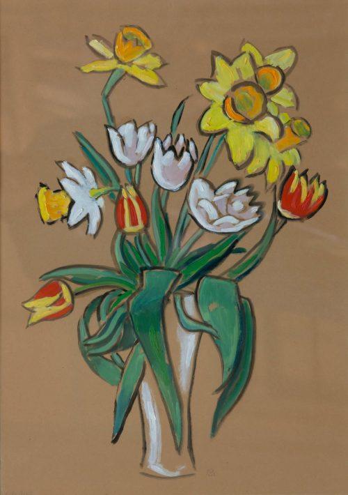Münter, Gabriele: Bunch of flowers, 1955
