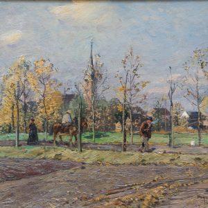 Hugo Mühlig: Blick auf Eller, 1886
