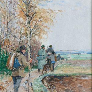 Hugo Mühlig: Return from the autumn hunt