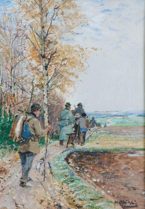Hugo Mühlig: Rückkehr von der Herbstjagd