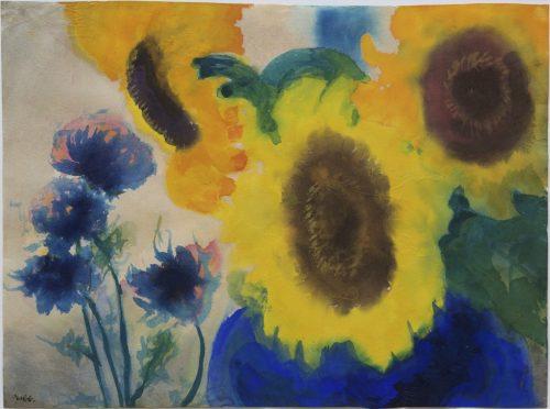 Nolde, Emil: Sonnenblumen