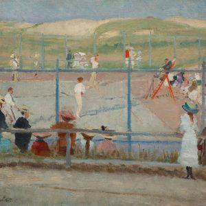Oppler, Ernst: Tennistunier, um 1900