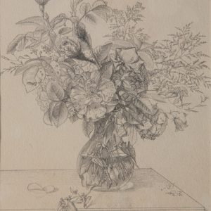 Preyer, Johann Wilhelm: Blumenstrauß in Glasvase