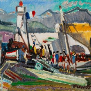 Pruvost, Pierre: Antibes. The tuna boat on the quay