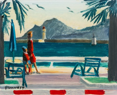 Pruvost, Pierre: Cannes. The Croisette and the Esterel massif
