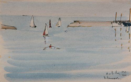 Pierre Pruvost: Antibes. Hafeneinfahrt, 1967