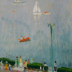 Pierre Pruvost: Antibes. Promenade, 1964