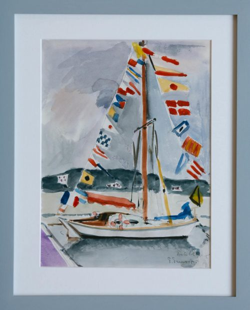 Pruvost, Pierre: Antibes. Das Segelboot (Rahmung)