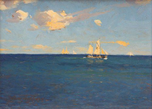 Quistorff, Victor: Segelschiffe bei klarem Wetter