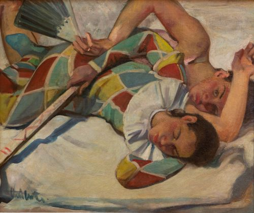 Witte, Curt: Reclining artist couple