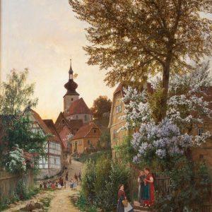 Zschimmer, Emil: Maiabend in Tiefthal - Erfurt, 1885